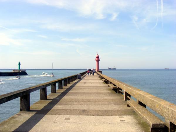 Boulogne s/mer - zicht op de pier